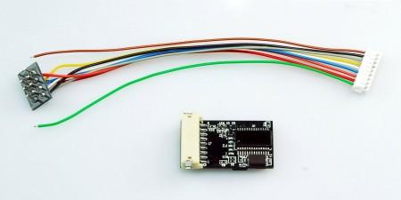 LC201 LC標準型HO比例適用數位行車晶片 (8針形式) 6個功能輸出