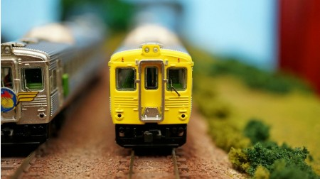 N scale TRA DR2700 diesel express train set Yellow scheme (Two motor railcar)  DCC version