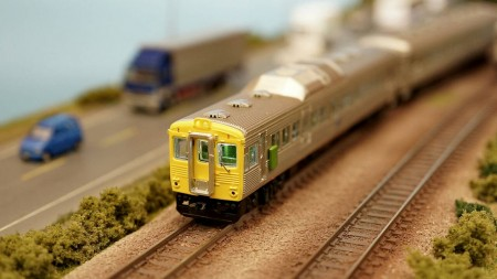 N scale TRA DR2700 diesel express train set Yellow scheme (Two motor railcar)