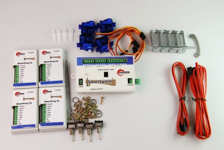 A008 鐵道模型慢速岔軌扳道器 DIY 岔心控制基本組 (無編輯器)