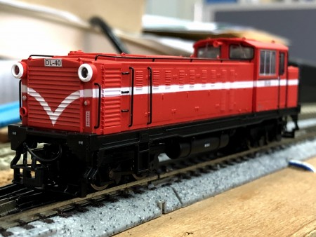 Ali-Shan forest railway sixth generation diesel locomotive  #DL-40
