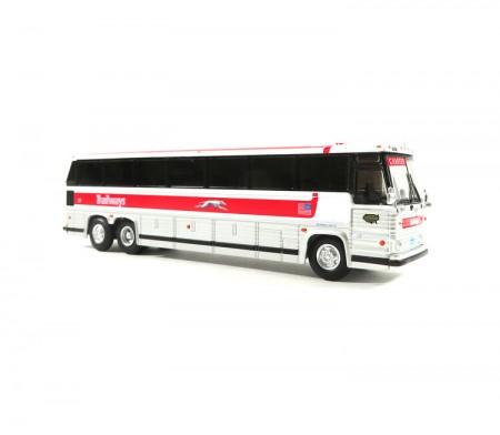 1/87 1984 MCI MC-9: 豪華巴士 Trailways 灰狗塗裝